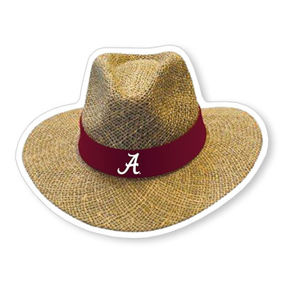 Alabama Saban Hat Decal