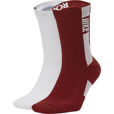 Alabama Nike Multiplier 2 Pair Crew Sock