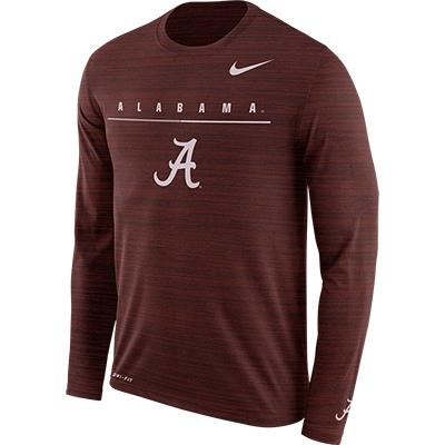 Alabama Long Sleeve Velocity Legend Travel T-Shirt