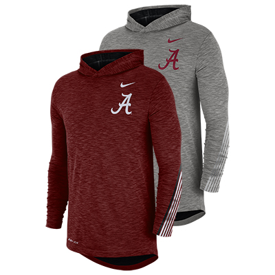 Alabama Nike Men's Long Sleeve Sideline Hoodie T-Shirt