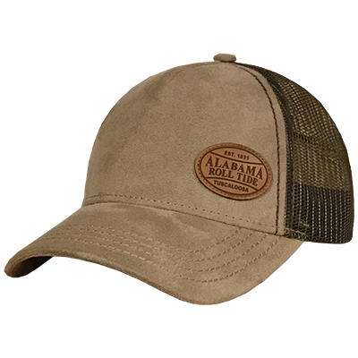 52b90cb8b70 Alabama Brown Suede Moda Trucker Cap