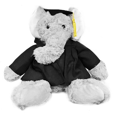Alabama Alumni Graduation Cuddle Buddy Elephant