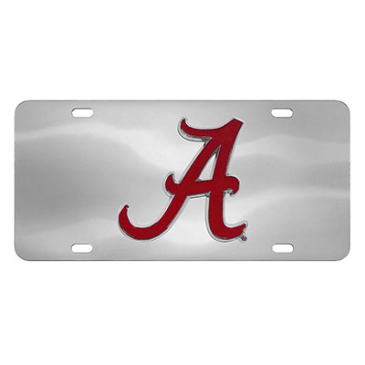 Mirror License Plate With Script A