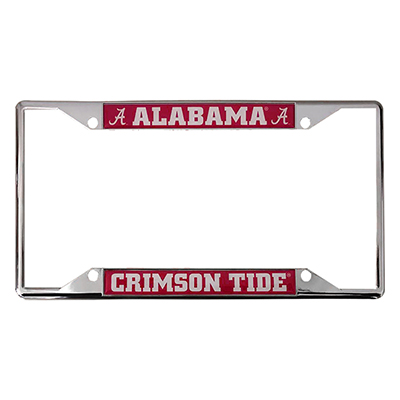 License Plate  Frame With  Alabama Script A