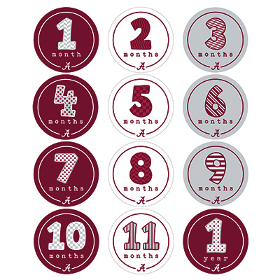 Alabama First Year Stickers