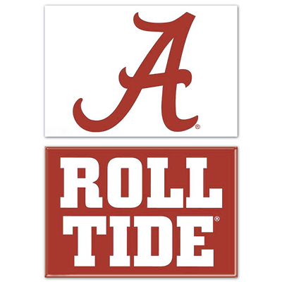 Roll Tide And Script A Rectangle Magnet