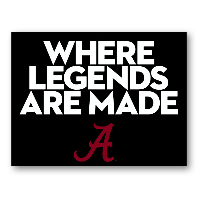 Where Legends Are Made Decal (SKU 13253882115)