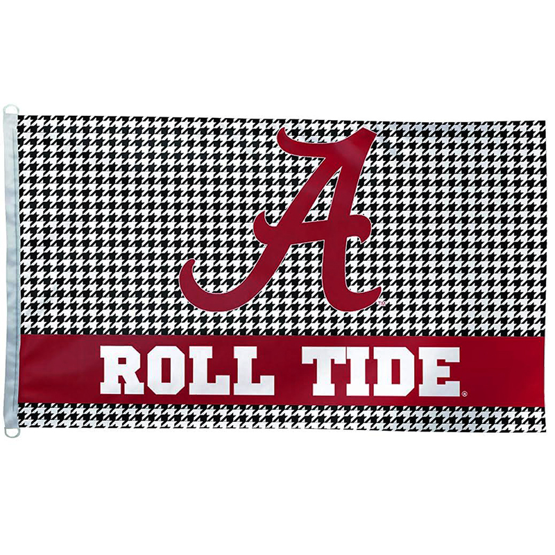 Roll Tide Houndstooth Deluxe Flag (SKU 1325391224)