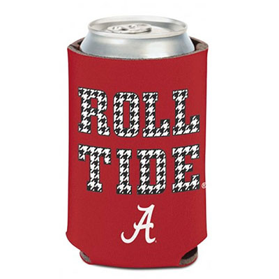 Houndstooth Roll Tide Can Cooler