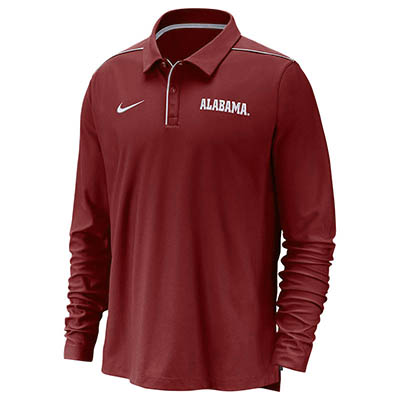 Alabama Nike Men's Uv Long Sleeve Team Issue Polo