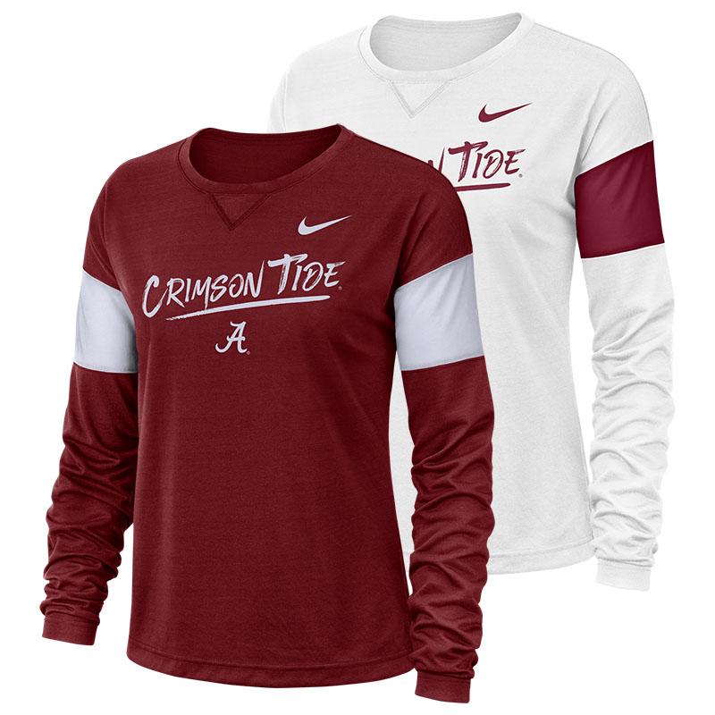 vari colori venduto in tutto il mondo comprare popolare Crimson Tide Nike Breathe Long Sleeve T-Shirt | University of ...