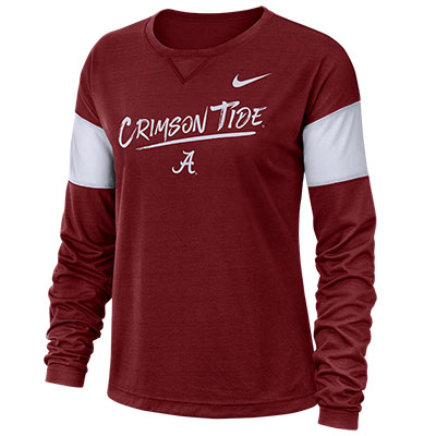 CRIMSON TIDE NIKE BREATHE LONG SLEEVE T-SHIRT