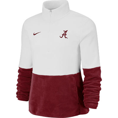 Alabama Nike Women's Therma Long Sleeve Half Zip Fleece