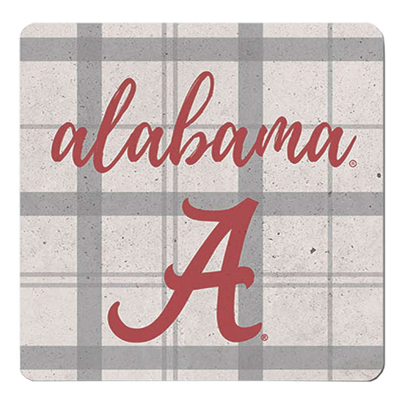 Alabama School Plaid Single Ceramic Coaster (SKU 13254766106)