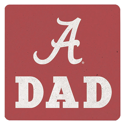 Alabama Dad Single Ceramic Coaster