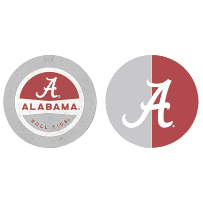 Alabama Split Color Car Coaster Set