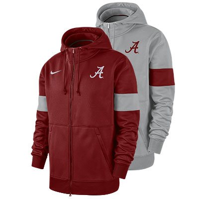 Alabama Nike Men's Therma Full Zip Hoodie