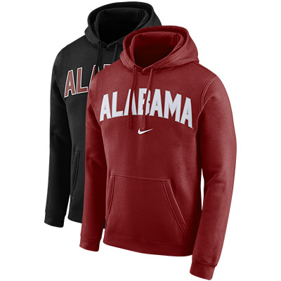 Alabama Nike Men's Pullover Fleece Hoodie Club Arch