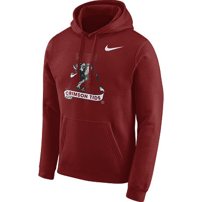 Alabama Men's Nike Pullover Club Fleece Vault Logo
