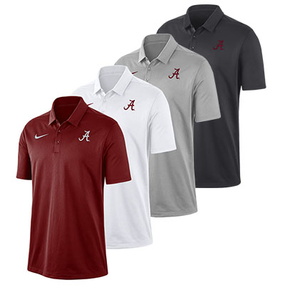 Alabama Script A Nike Dry Franchise Polo