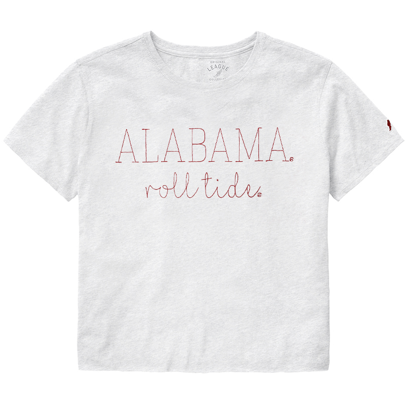 Alabama Roll Tide Clothesline Cotton Crop T-Shirt (SKU 1325838241)