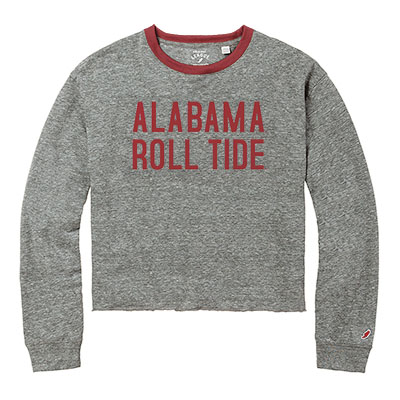 Alabama Roll Tide Intramural Long Sleeve Cropped T-Shirt