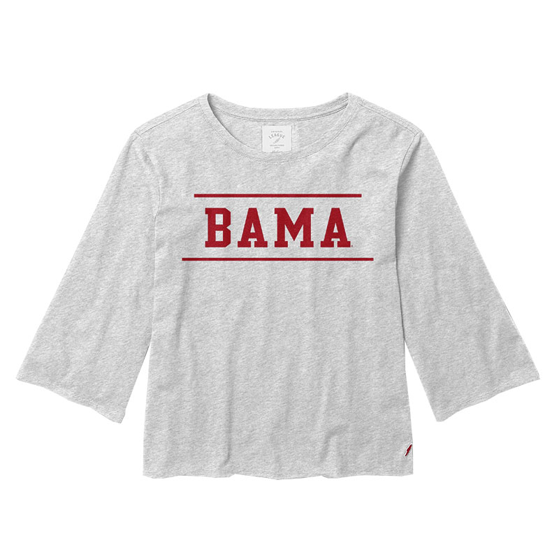 Bama Clothesline Cotton Fluted Sleeve Crop Top