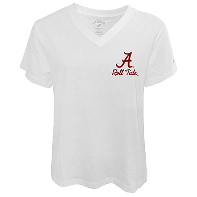 Intramural Boyfriend V-Neck Roll Tide Script A T-Shirt
