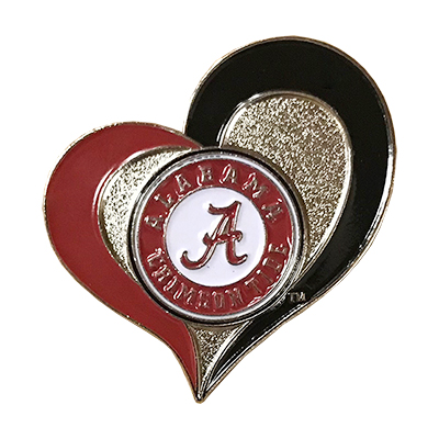 Alabama Swirl Heart Pin
