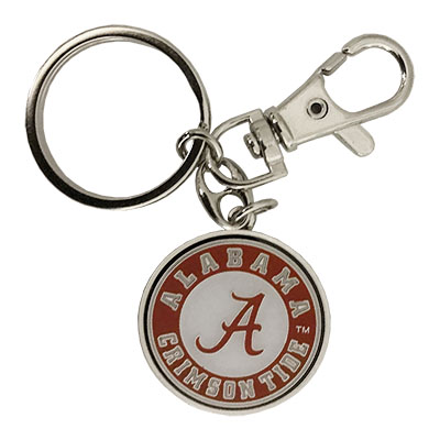Alabama State With Script A Keychain