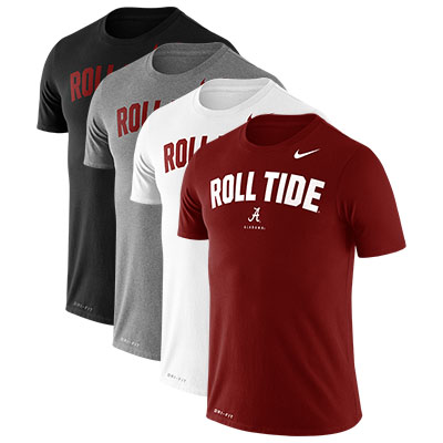 Alabama Men's Nike Dri-Fit Cotton Roll Tide Phrase T-Shirt