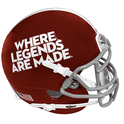 Where Legends Are Made Mini Helmet