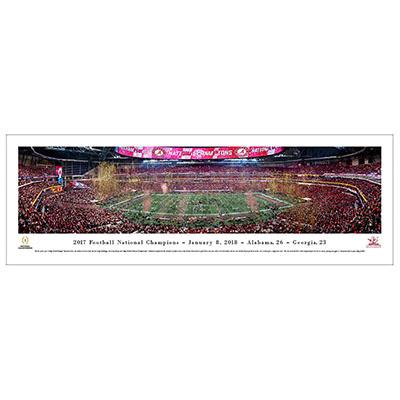 UNIVERSITY OF ALABAMA 2017 NATIONAL CHAMPIONSHIP PANORAMA PRINT
