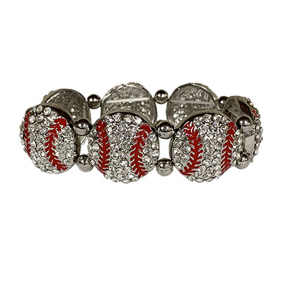 Dazzled Baseball Stretch Bracelet