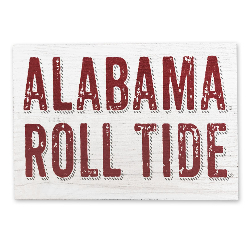 Alabama Roll Tide Vineyard Small Rectangle Block