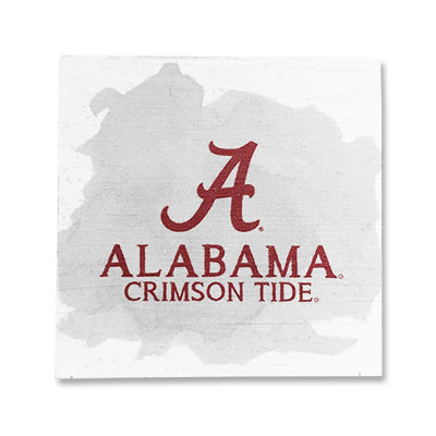 Alabama Crimson Tide Color Spill Small Square Block