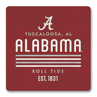Alabama Parallel Square Wood Magnet