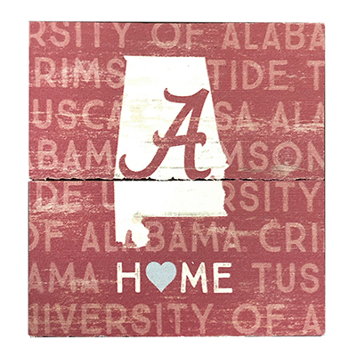 Alabama Home Slate Wood Plank Magnet