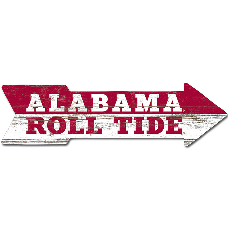 Classic Alabama Roll Tide This Way Wall Arrow