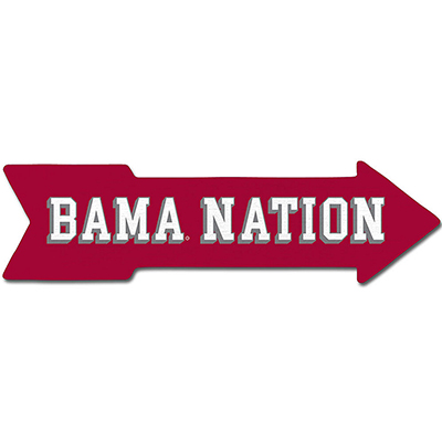 Mascot Bama Nation This Way Wall Arrow