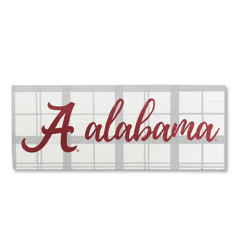 Alabama School Plaid Mini Table Top Stick