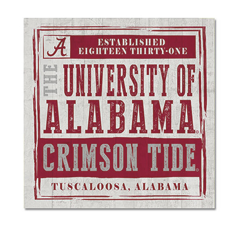 Crimson Tide Chronicle Table Top Square