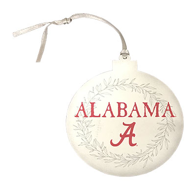 Alabama Laurels Round Ornament