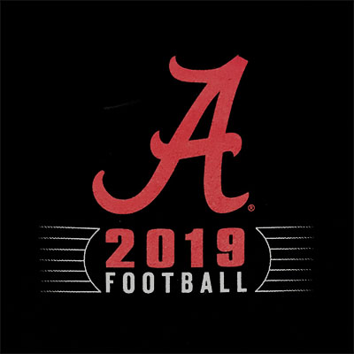 ALABAMA 2019 FOOTBALL SCHEDULE T-SHIRT