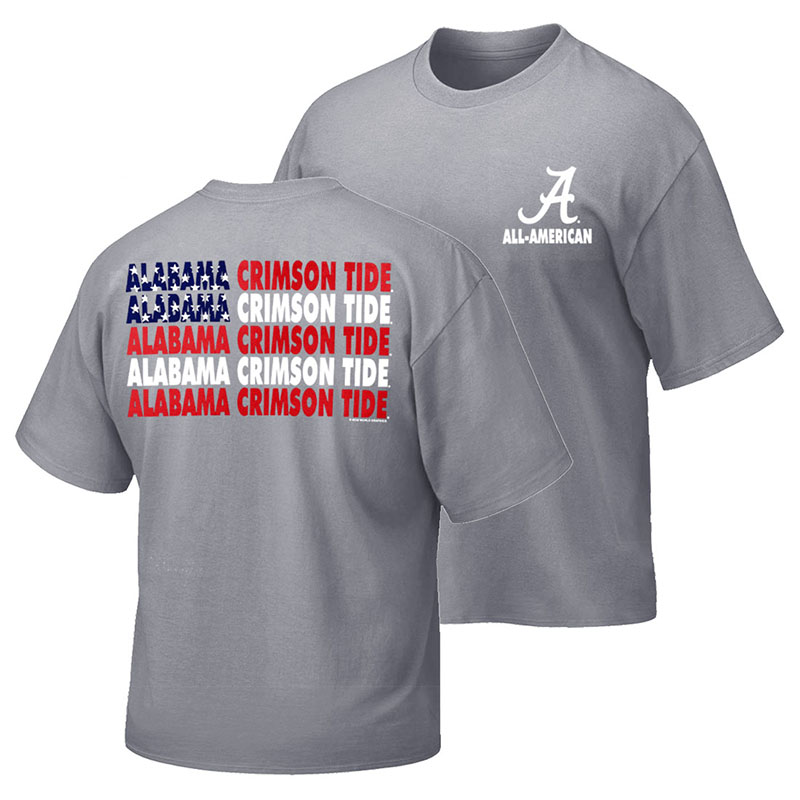 Alabama Crimson Tide Patriotic Words T-Shirt (SKU 13269296102)