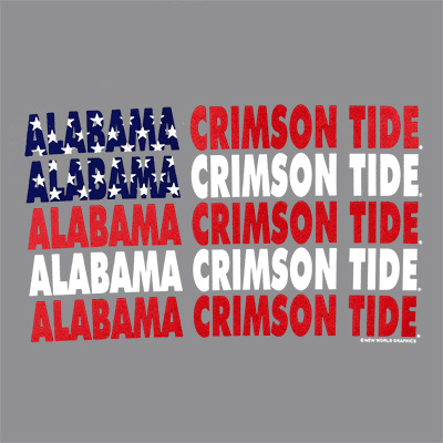 ALABAMA CRIMSON TIDE PATRIOTIC WORDS T-SHIRT