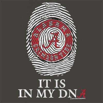 ALABAMA IT'S IN MY DNA FINGERPRINT YOUTH T-SHIRT