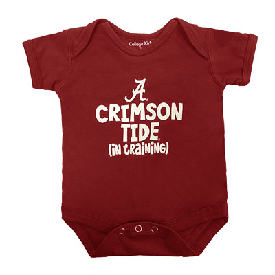 Alabama Short Sleeve Crimson Tide In Training Bodysuit
