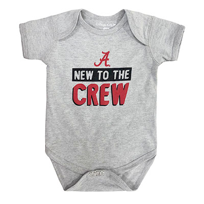 Alabama Short Sleeve New To The Crew Bodysuit