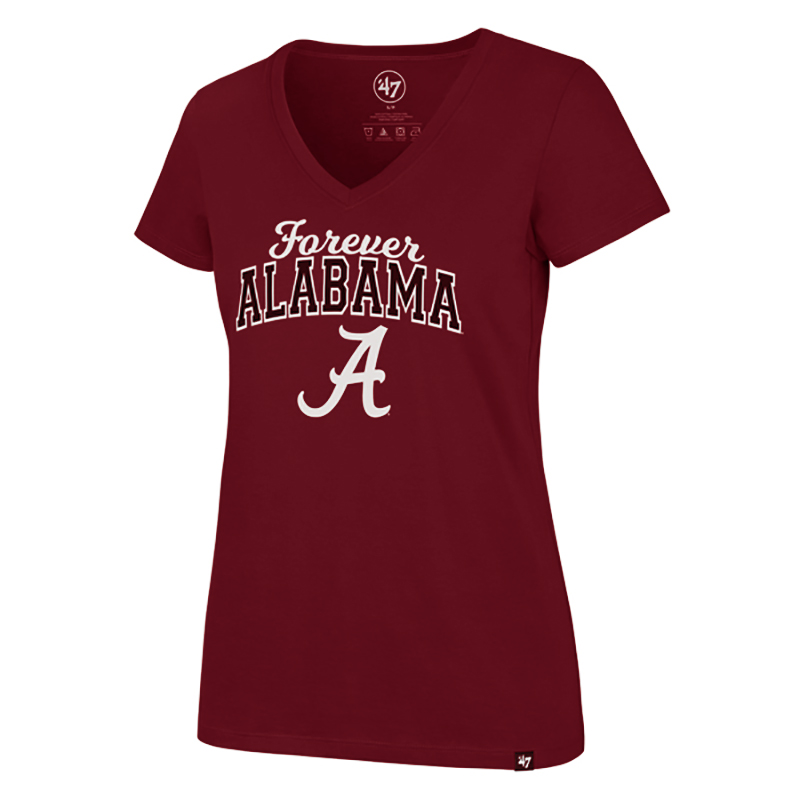 47 Brand Ultra V-Neck T-Shirt Forever Alabama With Script A (SKU 13270001208)